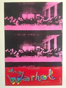 Andy Warhol Foundation Rare 1997 Lithograph Print Exhbt Poster Last Supper 1986