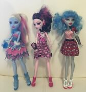 Monster High Doll Exclusive Dot Dead Gorgeous 3 Pack Draculaura, Abbey And Ghoulia