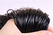 1mm/1.5mm Black Waxed Cotton Cord Necklace Cord Approx 18inch For Jewelry Making