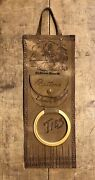 Rare 1920andrsquos Old Orchard Beach Maine Buttons Ties Leather Sign Store Display