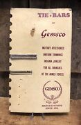 Vintage Wwii Era Tie Bar By Gemsco Military Accessory Store Counter Display Sign