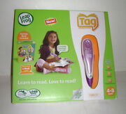 New Leapfrog Leap Frog Tag Reader Usb Cable Reading System Pen Pink Purple Rare