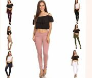 Nwt Clash Stretch Jeggings Mid-rise Pull On Butt Lifting Many Colors Full Length
