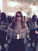 Chicago Fur Mart Size S. Brand New W/tags Natural Blue Iris Mink Cape.10000.00