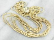 Yellow Gold Multi Strand Necklace