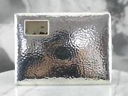 Vintage Sterling Silver Cigarette Case With Gold Accent