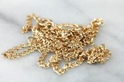 Rosy Gold Oval Link Chain Lies Flat