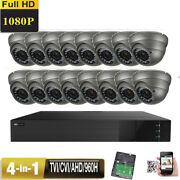16ch Hdtvi 1080p Sony Cmos 4-in-1 2.6mp 2.8-12mm Lens 36ir 8and9 Security Camera