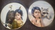 Perillo Collector Plates Pride Of America's Indians Set Of 2 By Vogue Shadows