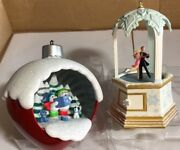 Lot Of 2 Hallmark Ornaments 2007 Waltzing On Air And A Caroling Surprise 2017 R4