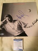 Huey Lewis Signed Vinly Lp Record Beckett Coa