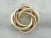 Two Tone Loverand039s Knot Vintage Brooch