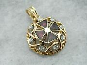 Ruby And Iron A Vintage Enamel Diamond And Gold Cross Pendant