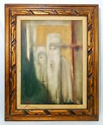 Jean Houston American 20th C Signed Vint O/c Dated And03963 Orig Ornate Wood Frame