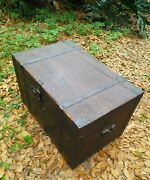 Antique Steamer Immigrant Trunk Early 1800's Hand Made Rare Blacksmiths 200 Year