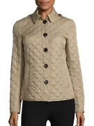 Brit Womenand039s Ashurst Diamond-quilted Jacket Beige Canvas Size L