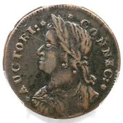 1787 33.23-hh.2 R-6 Pcgs Xf 40 Draped Bust Left Connecticut Colonial Copper Coin