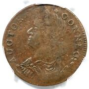 1787 53-ff R-5 Pcgs Xf 40 Draped Bust Left Connecticut Colonial Copper Coin