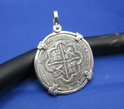 Spanish Colonial Atocha Pirate Shipwreck Coin Pieces Of Eight Pendant Necklace