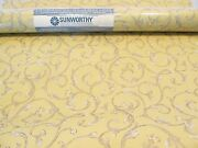 2 Double Rolls Sunworthy Wallpaper Pre-pasted Scrubbable Solid Vinyl Yellow Gray