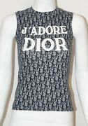 Christian Dior By John Galliano Blue Monogram Trotter T-shirt With J'adore Dior