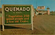Coxand039s Texaco Oil Gas Station Pumps Classic Old Cars Quemado Nm Postcard D11
