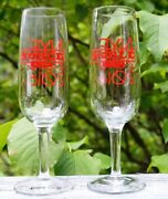 New Pair Of Noble Hard Cider New Years Eve 2015/2016 Glasses.