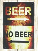 Cheap Home Decor Stores Plaque Beer No Beer Tin Metal Sign