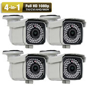 4-in-1 2.6mp 1080p 66ir 2.8-12mm Varifocal Zoom Od Security Camera Ac Adapter