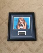 Britney Spears Framed Autograph Certified Authentic, Rare 1990s Photo