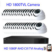 32ch All-in-1 1080p Dvr 1800tvl 24ir Cut 3.6mm Lens Security Camera System Dome