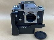 Nikon F Apollo Vintage Chrome 1973 Film Camera W/ F36 And Battery Pack Clean Andrare