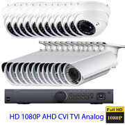 24ch 1080p Hdtvi Dvr 24pc Ahd 4-in-1 Analog 960h 2.6mp Security Camera System