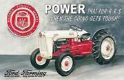 Ford Golden Jubilee Model Tractor Farm Equipment Logo Collector Metal Tin Sign