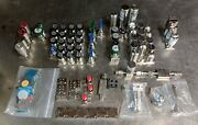 Huge Lot Of Uhp Surface Mount Components 100+ Valves 1.5 1.125 C-seal Fujikin