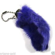 Real Purple Rabbit Foot Lucky Keychain Vraie Patte De Lapin Chanceuse