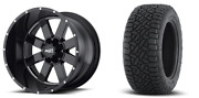 20x10 Moto Metal Mo962 35 Fuel At Wheel And Tire Package 5x5.5 Dodge Ram 1500 Tpm