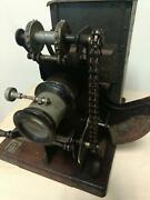 Antique Ernemann 35mm Film / Movie Projector With Film And Reel-working-vintage