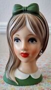 Lovely 1950andrsquos Napcoware Blonde Teen Head Vase C8493 Excellent Condition