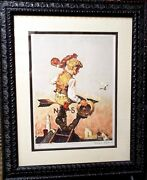 Norman Rockwell - Under Sail Lithograph - Hand Signed And A/p - Framed