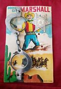 Vtg. 1940's/50's Child's Toy Dodge City Marshall's Badge Handcuffs Nos - Japan