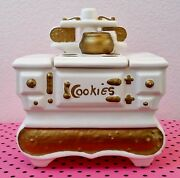Late 1950and039s Hand-painted Mccoy Large Wood Burning Stove Cookie Jar