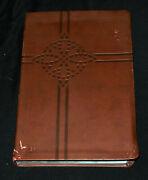 Holy Bible New King James Version, Chocolate, Leathersoft, Giant Print, Red