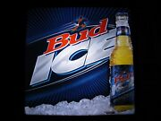 New Vtg 2004 Budweiser Bud Ice And Beer Eagle A Logo In Motion Bar Light Pub Sign