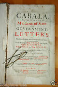 1691 London Cabala Mysteries Of State And Government Kings And British History