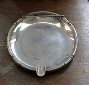 Old Golf Ashtray Bamboo Pattern Baldwin And Miller Sterling Golfer Golfing