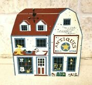 Primitive Hand Painted Antiques Shelf Sitter Wood Store Barn Farm Cats Country