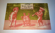 Antique Victorian Musical Dancing Turtle French Cologne Advertising Trade Card