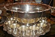 Grand Duchess Silverplate, Hollowware By Towle 14 Pc Punch Set