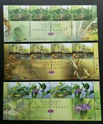 Aquatic Plants Of Malaysia2002 Flower Flora Plant Pond Stamp Title Mnh